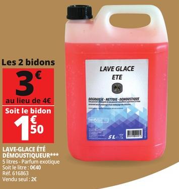 Lot de 2 Bidons de Lave-glace Été Démoustiqueur - 2 x 5L