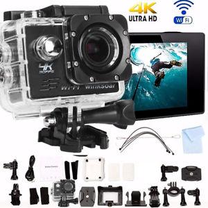 """Mini caméra Winksoar - 4K, 16égapixels, Wi-Fi, Étanche avec écran 2"""" + Accessoires"""