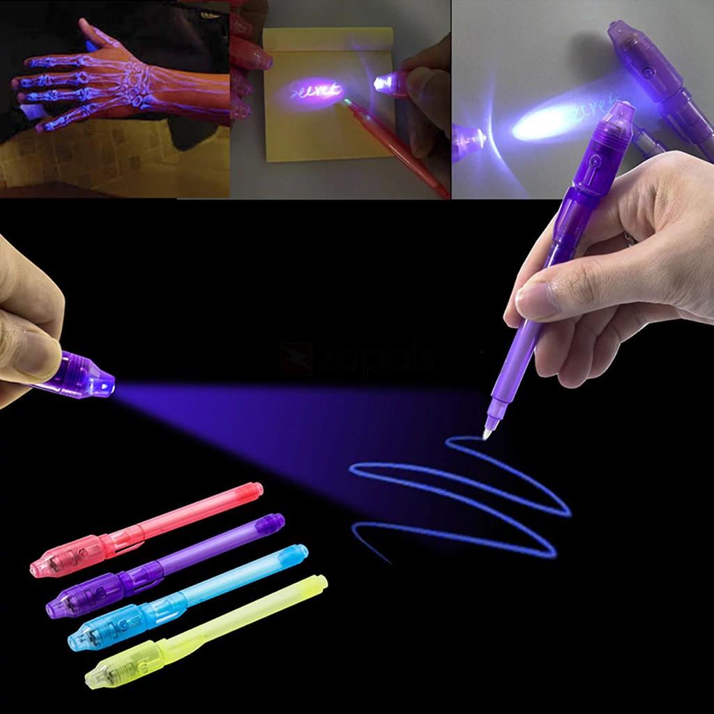 Stylo à encre invisible de 13cm avec lumière UV (frais de livraison inclus)