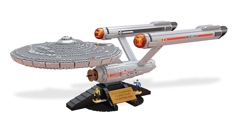 Vaisseau Spatial Enterprise Star Trek Megablocks  - Contient 3098 pièces à assembler