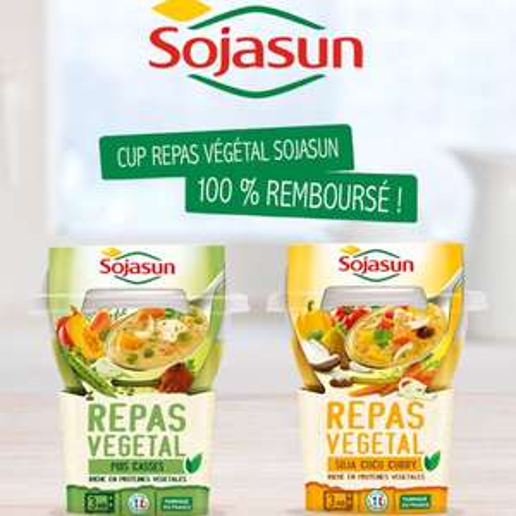 Repas végétal Sojasun (100% remboursé via Quoty)