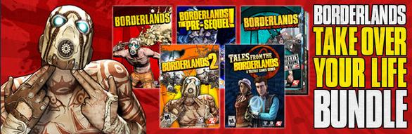 """Borderlands """"Take Over Your Life Bundle"""": 4 jeux sur PC  (Dématérialisé - Steam)"""