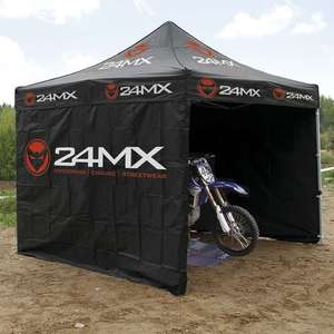 Sélection de tentes Paddock 24MX en promotion - Ex : 24MX Race Easy-UP - 3x3 m, avec 3 cloisons