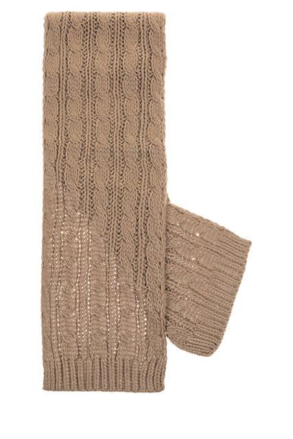 Écharpe en grosse maille - 172 x 20 cm (Coloris Noir ou Taupe)