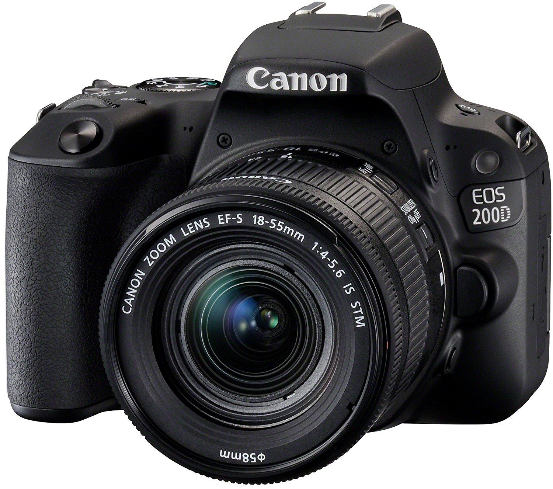 Appareil Photo Reflex Canon EOS 200D + Objectif 18-55 IS STM