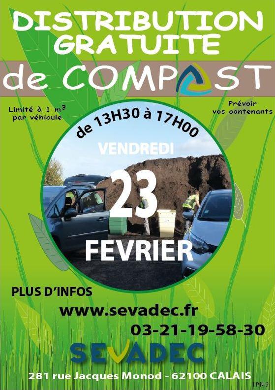 Distribution gratuite de compost - Calais (62)