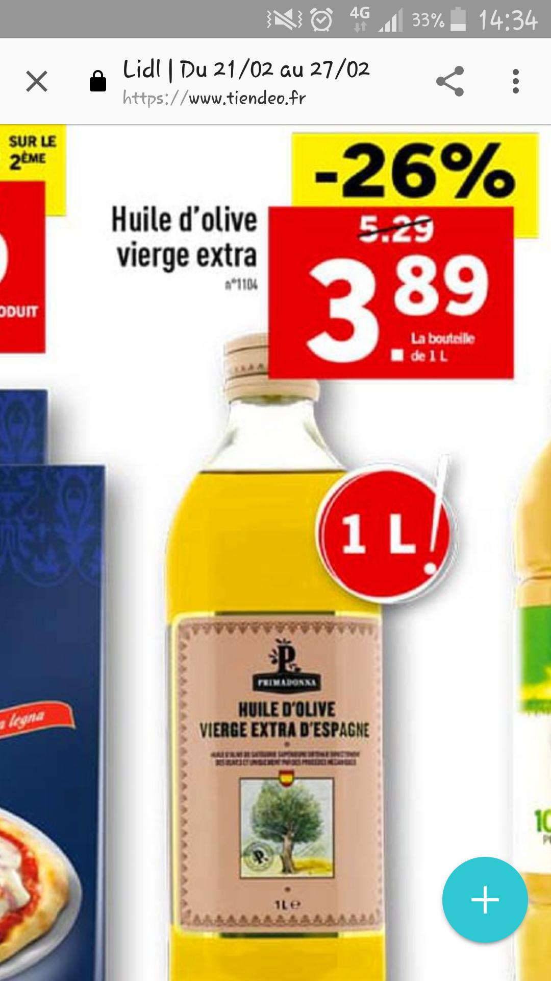 Huile d'olive Vierge Extra d'Espagne - 1 L