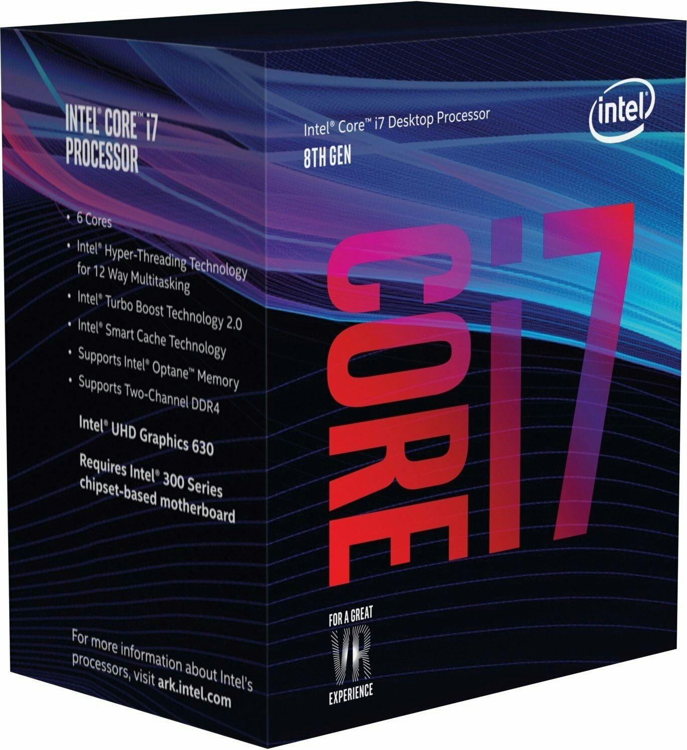 Sélection de Processeurs Intel - Ex: Core i7-8700 3 2GHz (Socket 1151)