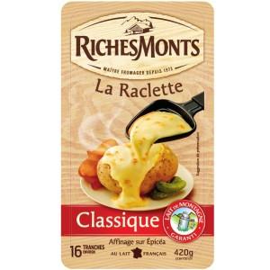 Lot de 3 Paquets de Fromage à Raclette RichesMonts - 3 x 420g (via BDR + Appli)
