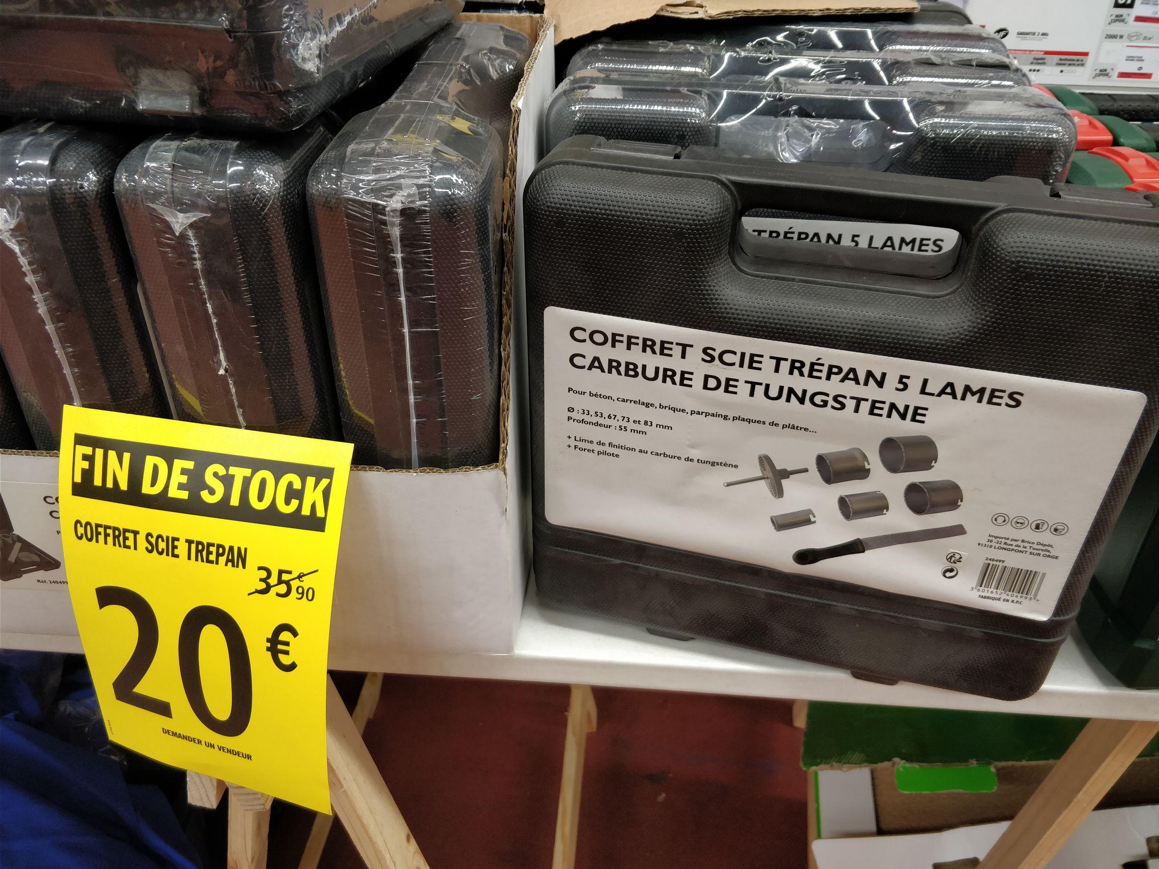 Coffret scies trépan - 5 lames carbure de tungstene (Villefranche sur Saône 69)