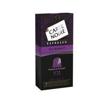 Lot de 2 paquets de Café Espresso Carte Noire n°11 Puissant - 10 capsules (53 g)