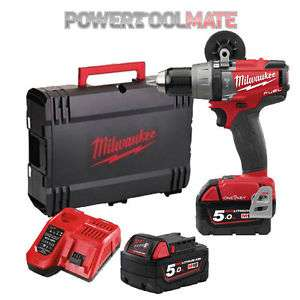 Perceuse Visseuse à percussion Milwaukee M18 Onepd-502X Fuel Brushless + 2 x 5Ah Batts + chargeur + Coffret