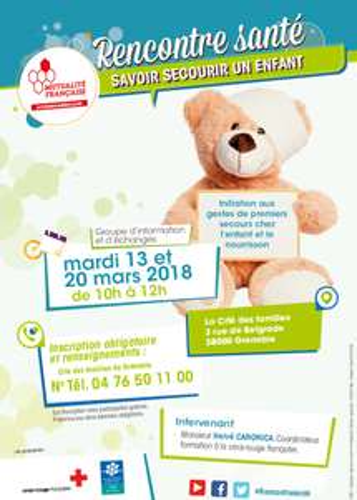 Initiation gratuite aux gestes de premiers secours chez l'enfant et le nourrisson - Grenoble (38)