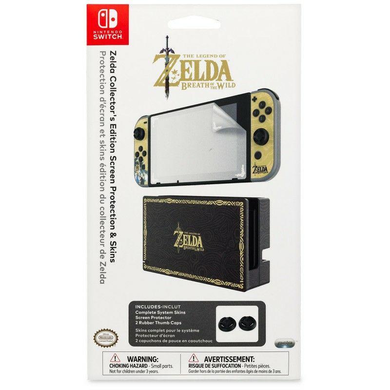 Kit d'autocollants Playskins Zelda + 2 Caps pour Nintendo Switch