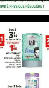 2 gels coiffants Taft Schwarzkopf 300mL via 50% remise immédiate + BDR (National)