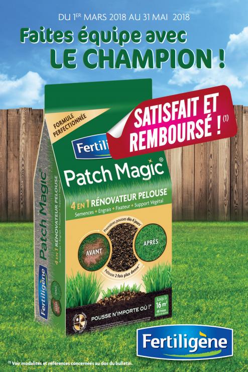 Patch Magic de Fertiligène 4 en 1, paquet de 3.6 kilos ou 750 g (via ODR satisfait et remboursé)