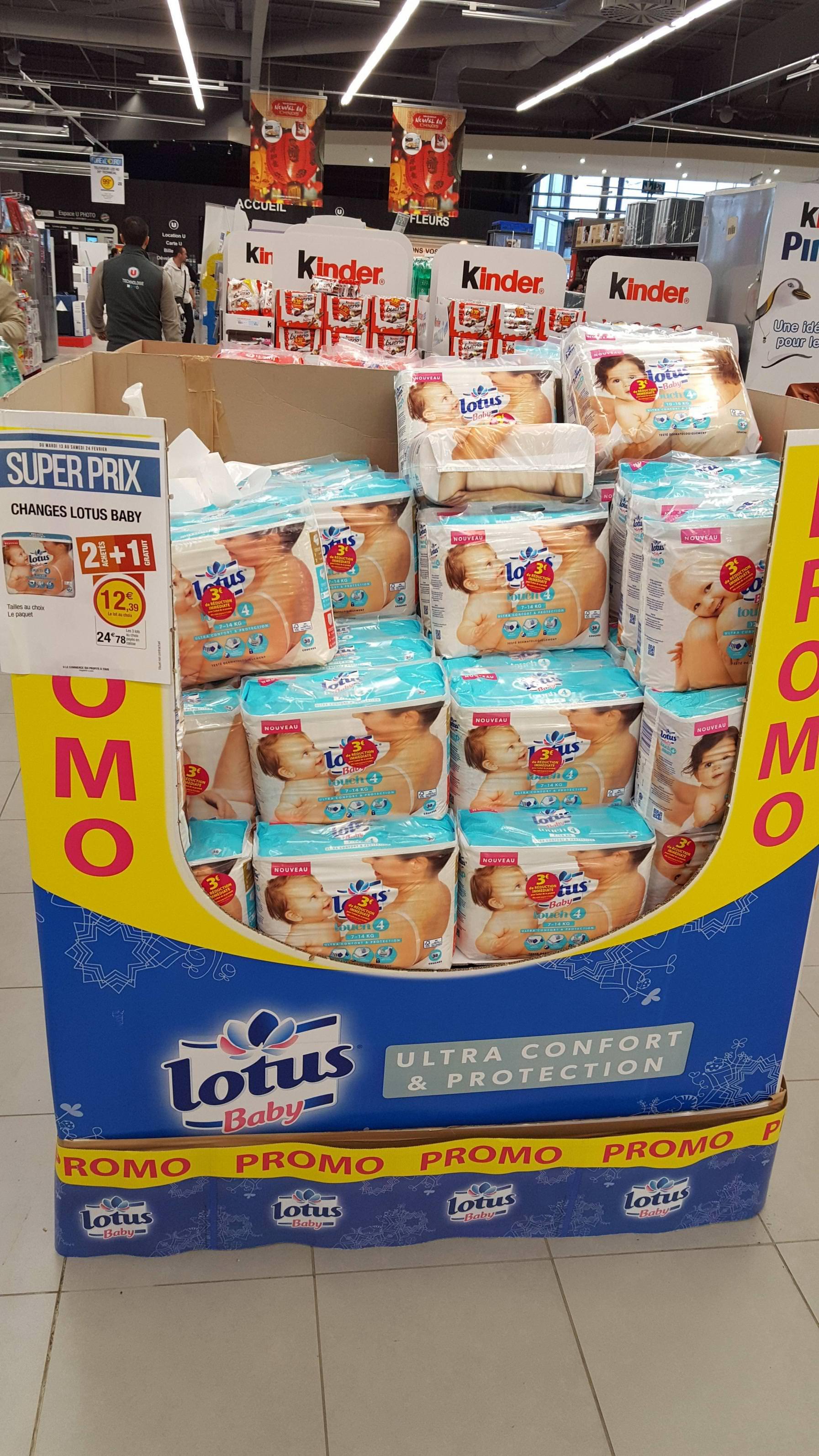 Lot de 3 paquets de couches Lotus Baby - Différentes tailles (via BDR + 4.16€ sur la carte de fidélité) (Mazé-Milon 49)