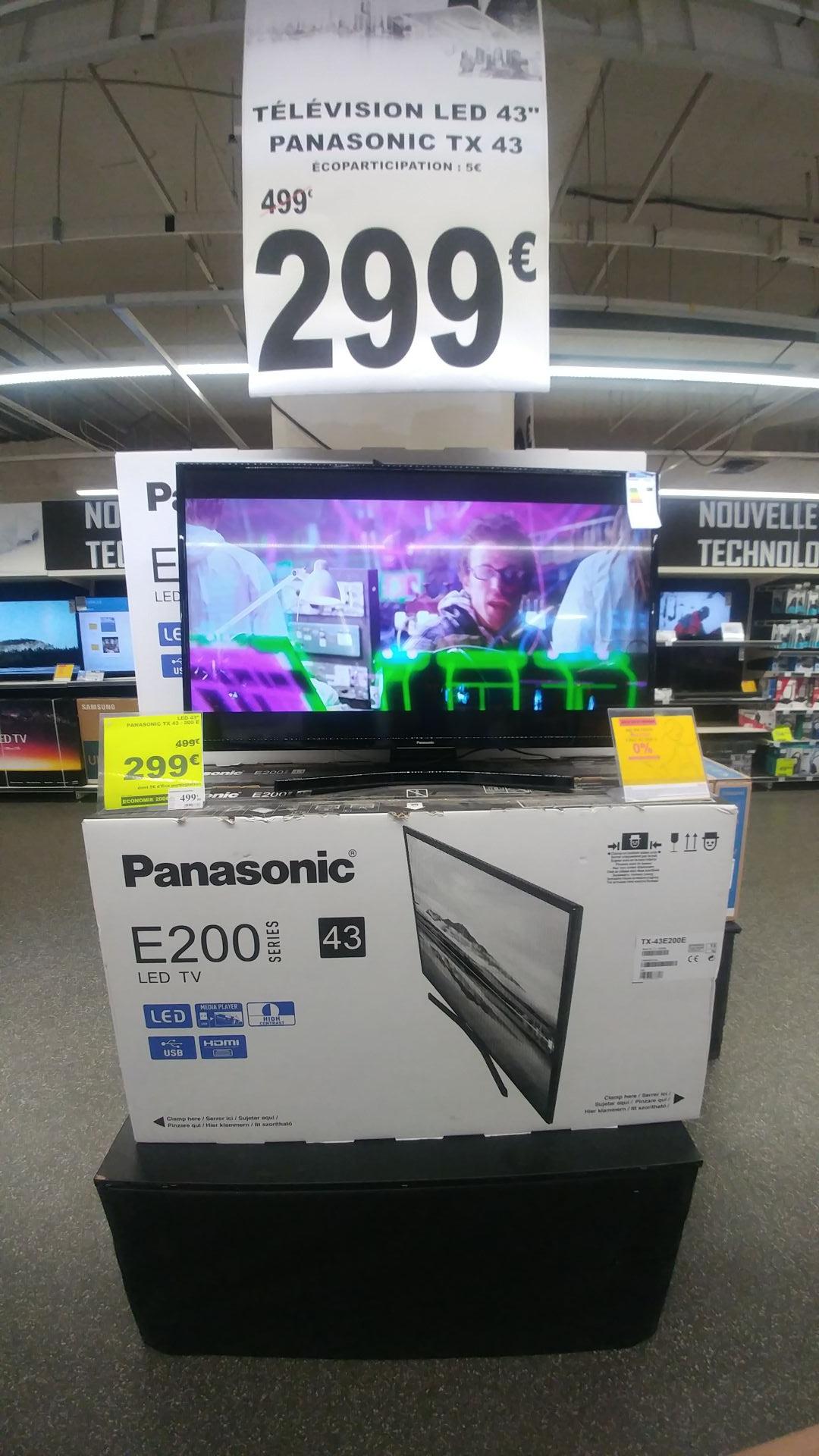 "TV 43"" Panasonic TX-43E200E à Auchan Les QuatreTemps (92)"