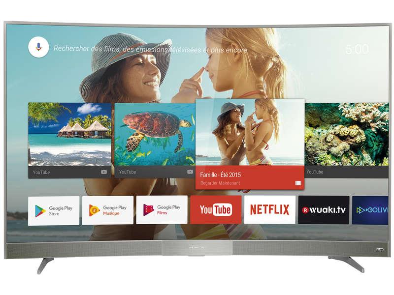 "TV LED 49"" Incurvée Thomson 49UD6006S - UHD 4K, HDR, 10Bits, Smart TV"