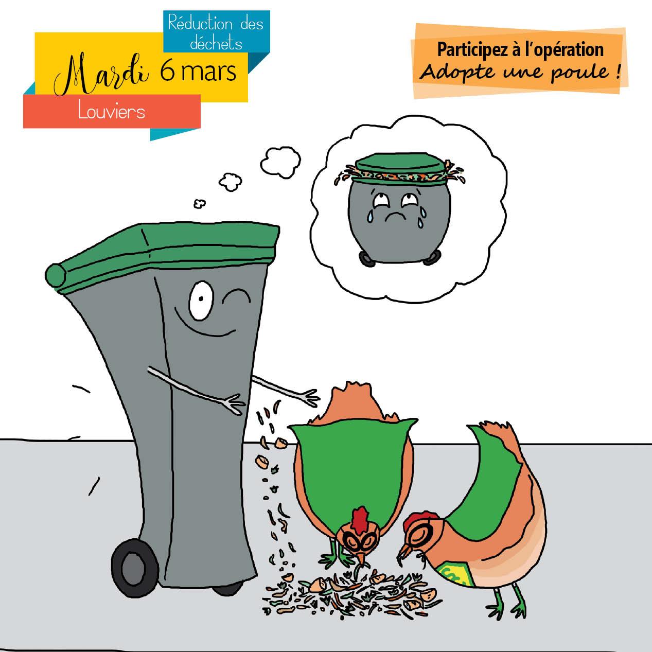 2 poules offertes pour réduire ses déchets - Communauté d'agglomération Seine-Eure (27)
