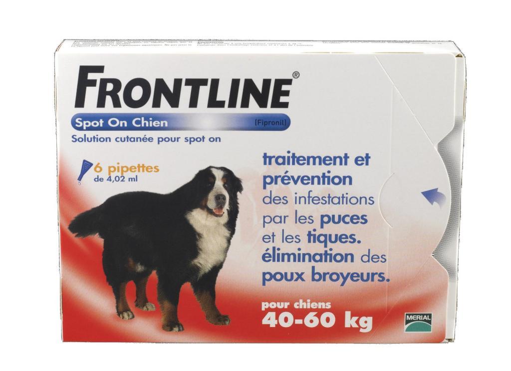 Anti-puce Frontline Spot-on - Chien géant 40-60kg - 6pip