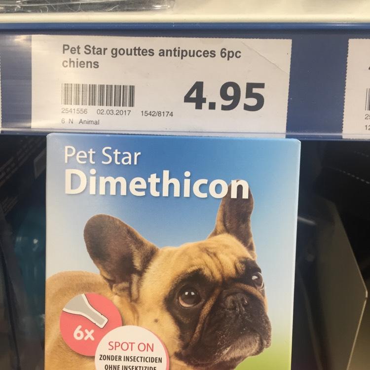 Lot de 6 flacons de gouttes anti-puces Pet Star Dimethicon chez Action Torcy (77)