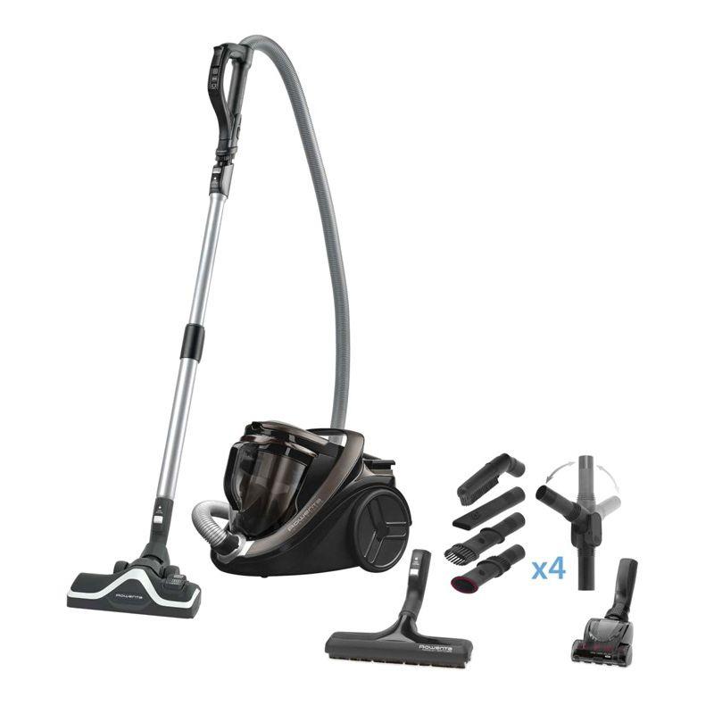 Aspirateur sans-sac Rowenta Silence Force Cyclonic 4A Home & Car Pro RO7676EA (750 W) + lot d'accessoires