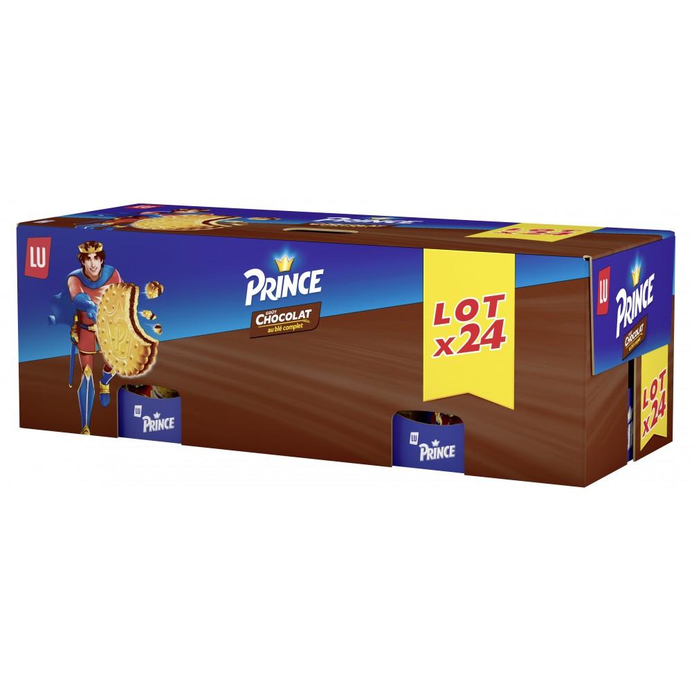 Lot de 24 Sachets de Gâteaux Prince de Lu Goût Chocolat - 300g (Via 18.2€ sur la carte de fidélité)