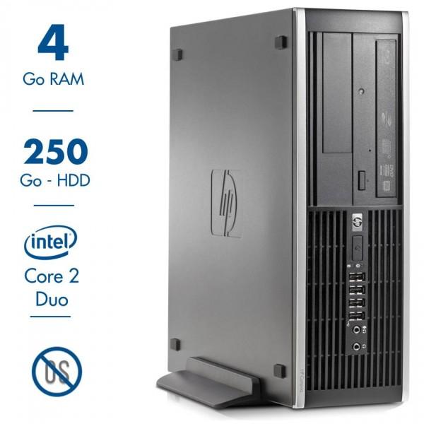 PC de Bureau HP Compaq Elite 8000 SFF - Core 2 Duo E8400@3,00GHz, 4Go RAM, 250Go, Sans os (Occasion)