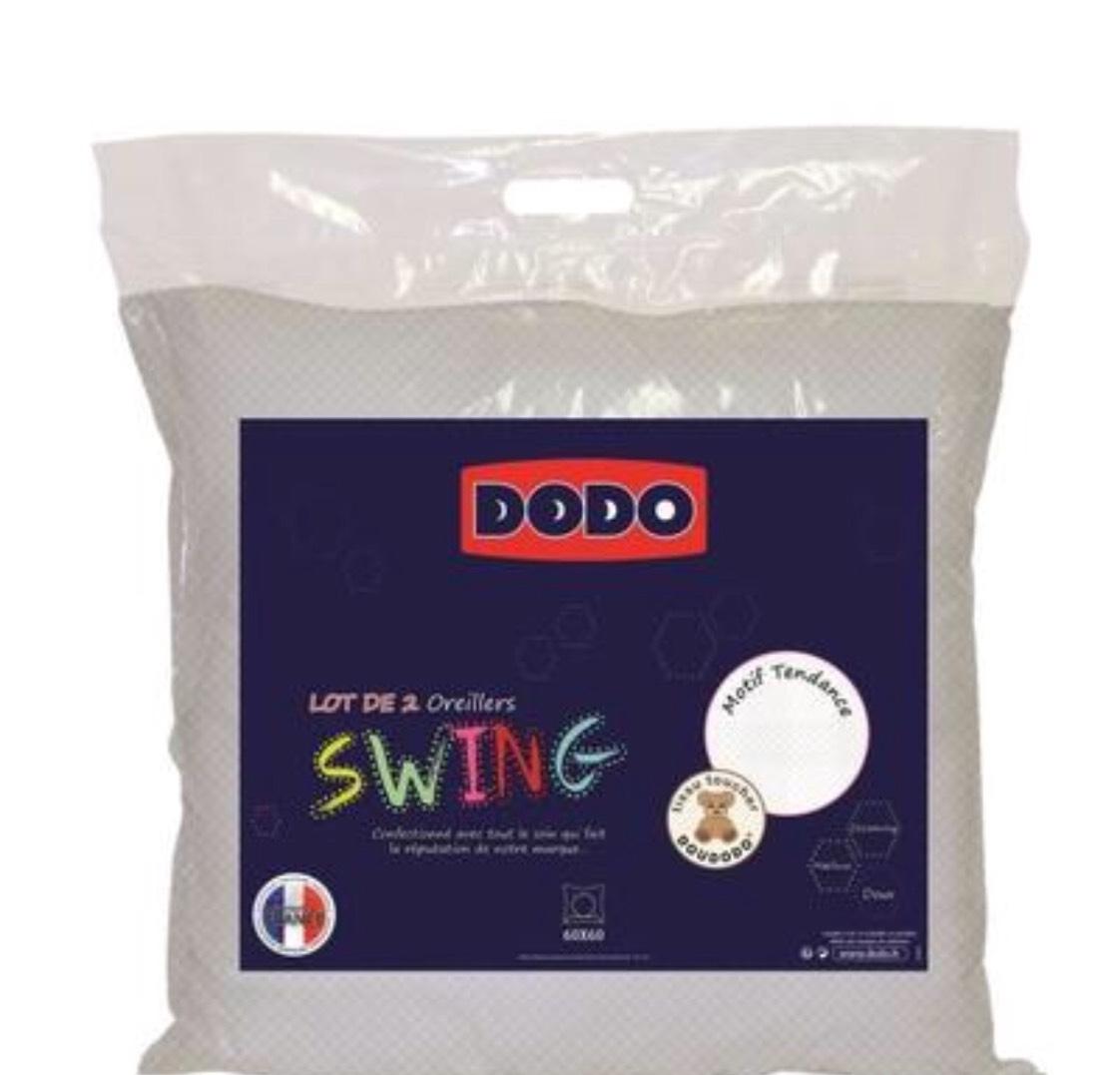 Lot de 2 oreillers Dodo Swing - Blanc (60 x 60 cm)