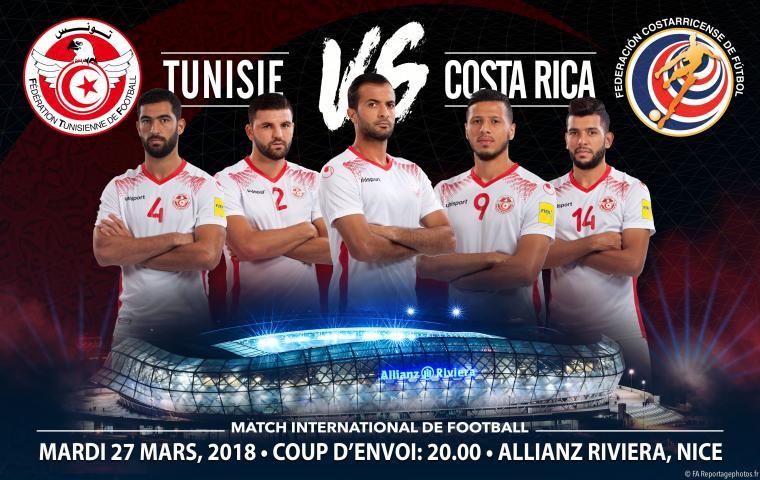 [Carte fidélité] 5€ de réduction sur les places du Match de Football Tunisie - Costa Rica le 27 Mars à L'allianz Rivera (Nice) - Ex : Place Tribune populaire Categor 4