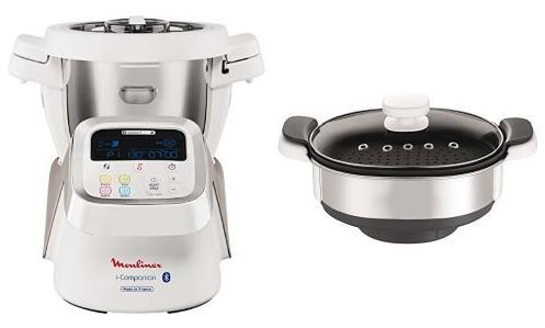 Robot de cuisine connecté Moulinex I-Companion HF9001 + Panier vapeur