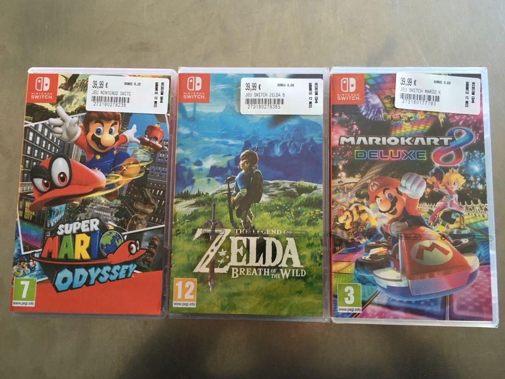 Zelda, Mario Kart 8 Deluxe ou Mario Odyssey sur Nintendo Switch - Cash Express Niort (79)