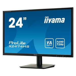 "Ecran PC 24"" Iiyama ProLite X2474HS-B1 - Full HD, Dalle VA, 4ms"