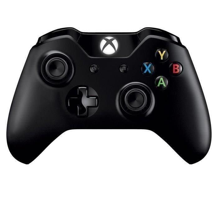 Manette Sans-fil Microsoft Noir compatible Xbox One et PC - Bluetooth + Câble USB