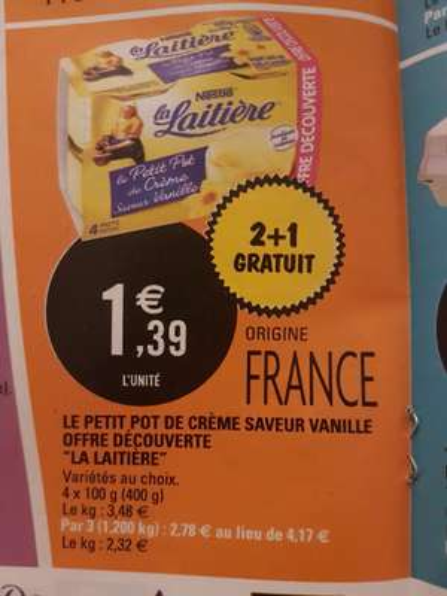 Lot de 3 paquets de 4 yaourts Nestlé La Laitière Le Petit Pot de Crème - différents goûts