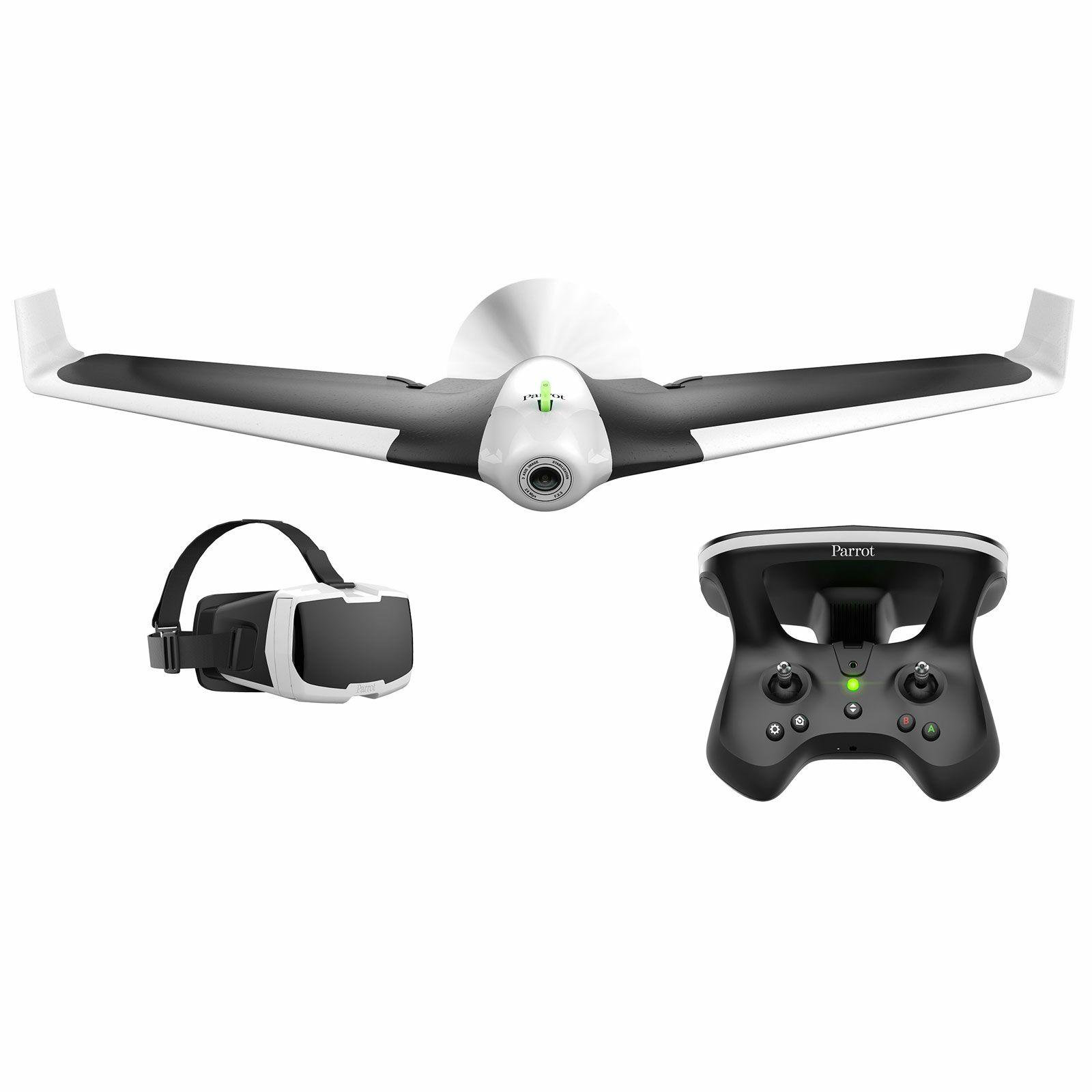 Drone Parrot Disco FPV + Skycontroller + Lunettes Action-Cam Caméra Wow