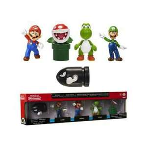 Pack de 5 Mini-figurines World of Nintendo Mario - 6cm