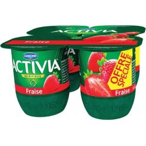 Lot de 3 packs de 4 yaourts Danone Activia au Bifidus - différents goûts (via BDR + DanOn)