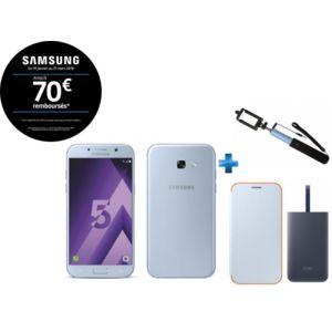 Smartphone Samsung Galaxy A5 2017 (Plusieurs coloris) + Perche Selfie + Batterie Fast Charge 5100 mAh + Coque Neon Flip Cover (via ODR de 70€)