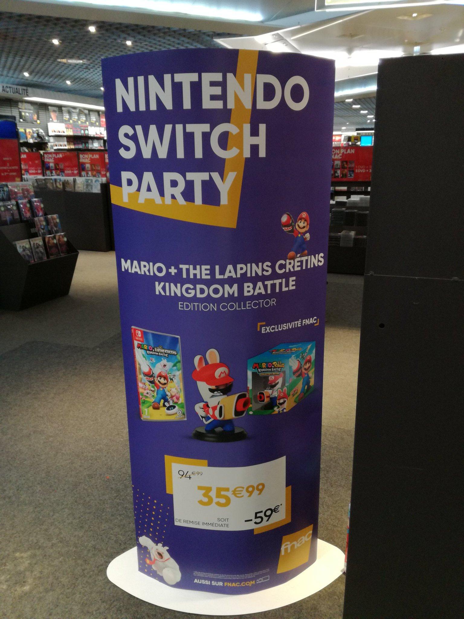 Édition Collector Mario et Les Lapins Crétins Kingdom Battle sur Nintendo Switch