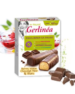 Gerlinéa barres de régime hyperprotéinées chocola X12 - 372gr via Shopmium