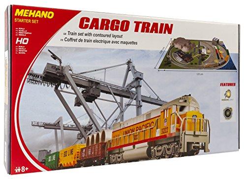 Train électrique Mehano T113 Cargo en voie H0 avec le paysage industriel