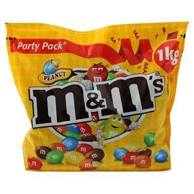 Sachet de M&M's Peanut - 1Kg (Via Carte de Fidélité)
