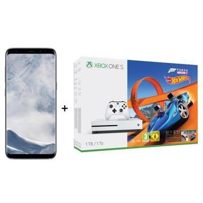 "[Cdiscount à volonté] Smartphone 5.8"" Samsung Galaxy S8 Argent + Console Microsoft Xbox One S (1 To) Forza Horizon 3 Hotwheels (via ODR de 100€)"