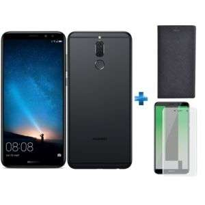 "Smartphone 5.9"" Huawei Mate 10 Lite (Coloris au choix) - Full HD+, Kirin 659, RAM 4Go, 64Go + Étui Flip Stand Noir + Verre Trempé (Via ODR 30€)"