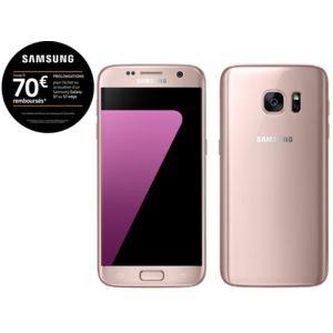"""Smartphone 5.1"""" Samsung Galaxy S7 Rose - 32 Go (via ODR 70€)"""