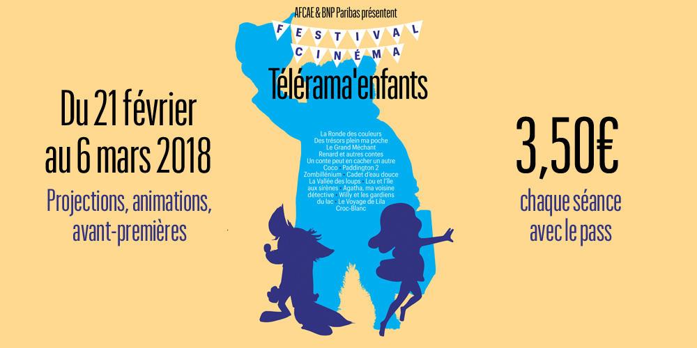 [Abonnés Télérama] Festival Télérama : Place de cinéma pour les enfants avec 3 films en avant-première