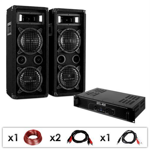 "Pack d'enceintes + Ampli Sono DJ PA ""DJ-24"" - 1200W"