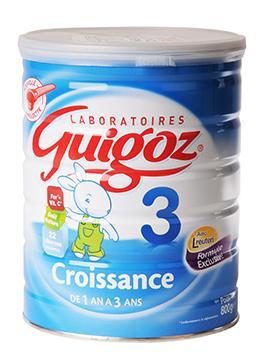 3 boîtes de Lait Guigoz Croissance 3eme âge